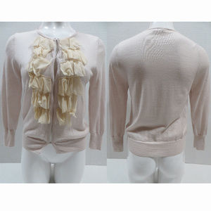 J.Crew sweater Medium Merino Lili Ruffle-Chiffon